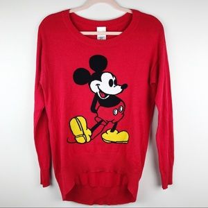 Disney Classic Retro Mickey Mouse High Low Sweater